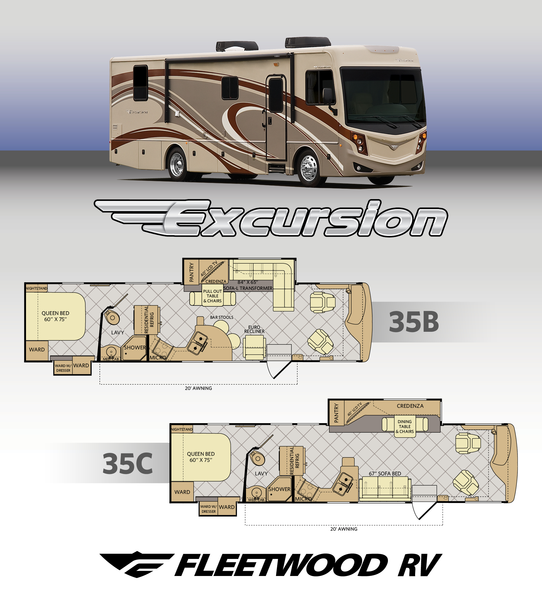 Fleetwood RV expands already new Excursion line up
