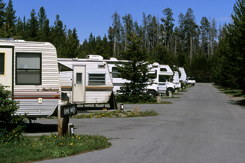 Yellowstone RV camping